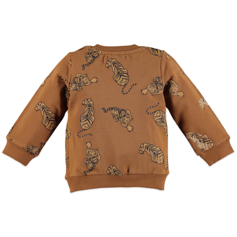 Бебешка ватирана блуза с тигри в оранжево