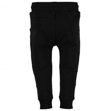 Долнище с платки и джобове в черно