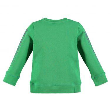 Детска ватирана блуза с надписи на ръкавите в зелено