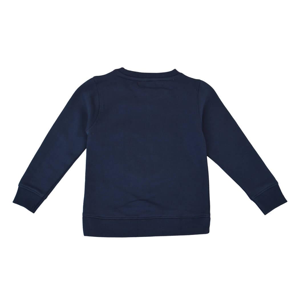 Детска ватирана блуза с панда в тъмно синьо
