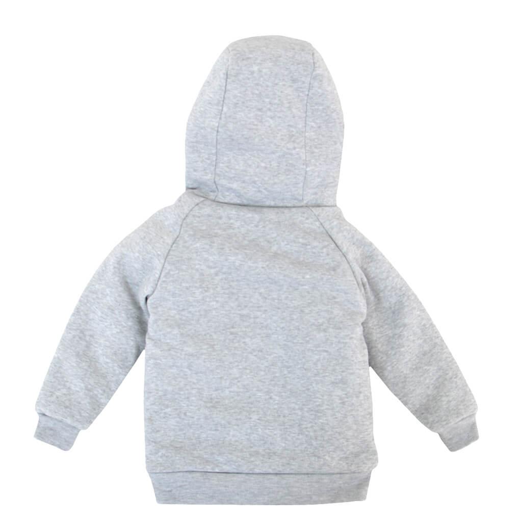 Детски дебел суитшърт с подплата от каракул в сиво
