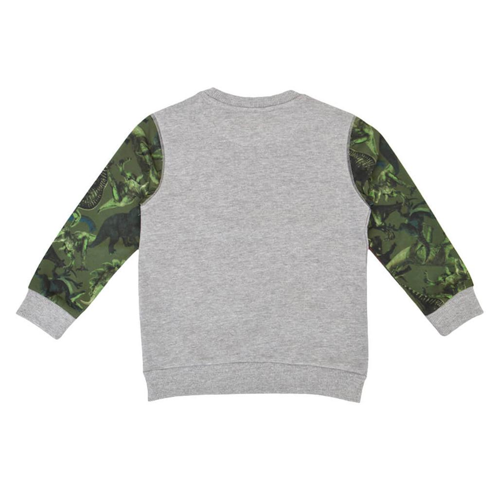 Детска блуза от био-памук с лека вата в сиво
