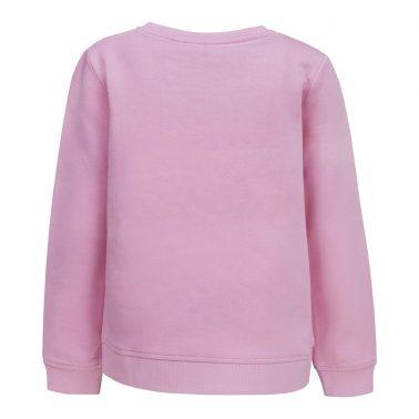 Детска плътна ватирана блуза с апликация с пайети в розово