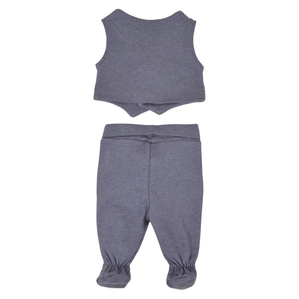 Луксозен бебешки комплект от 4 части в сиво