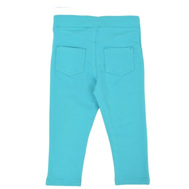 Детски еластичен панталон в цвят зелен петрол