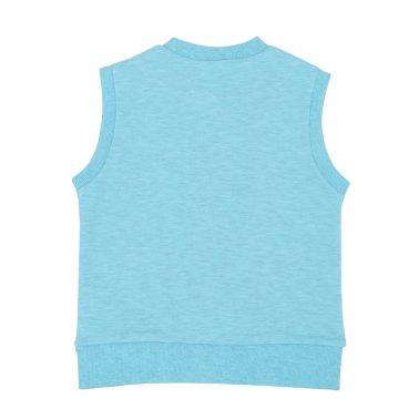 Детски елек с джобове в синьо