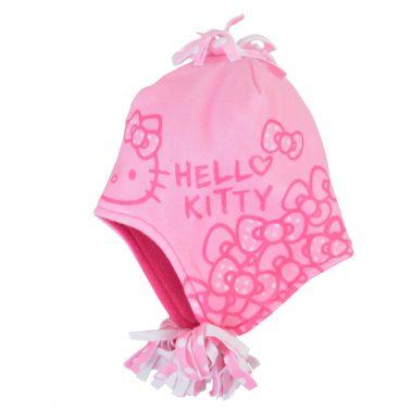 Шапка с HELLO KITTY розова