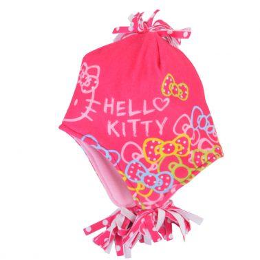 Шапка с HELLO KITTY тъмно розова