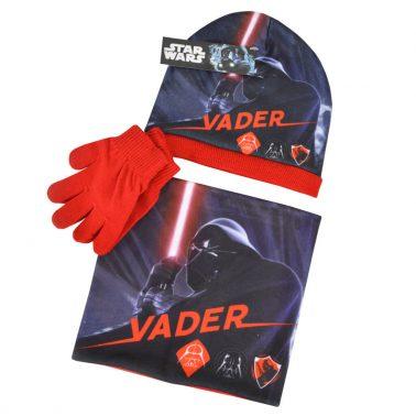 Комплект шапка и ръкавици със Star Wars червен