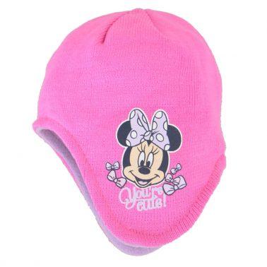 Шапка ушанка с Мини Маус розова