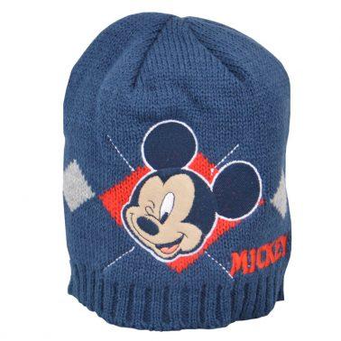 Детска зиман шапка с Мики Маус тъмно синя