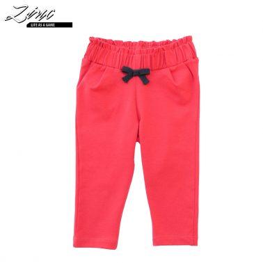 Бебешки панталон с панделка в цвят малина