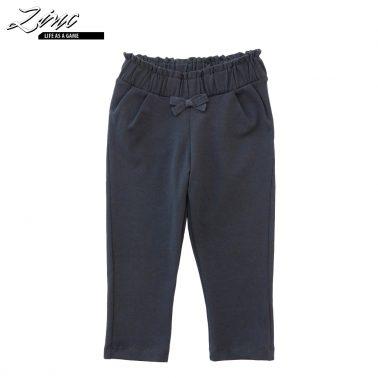 Бебешки панталон с панделка в тъмно синьо