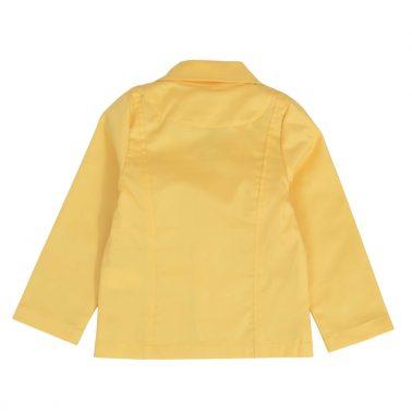 Детско изчистено сако с копчета в жълто