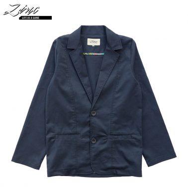 Детско елегантно сако изчистено в тъмно синьо