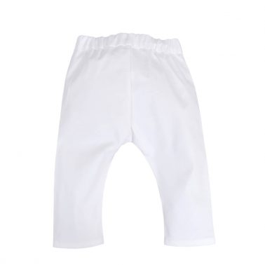 Официален бебешки текстилен панталон в бяло