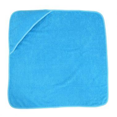 Бебешка хавлия с качулка 75см на 75см синя