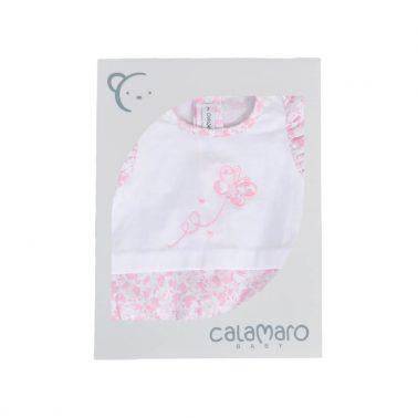 Бебешки гащеризон с къдрички и пеперуда в розово