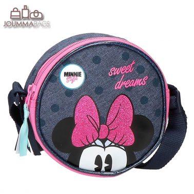 Малка детска кръгла чанта с Мини Маус