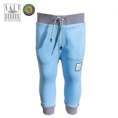 Бебешко долнище с връзка и джобове в светло синьо