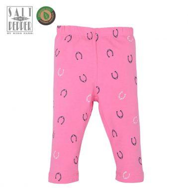 Удобен детски къс клин с подкови в розово