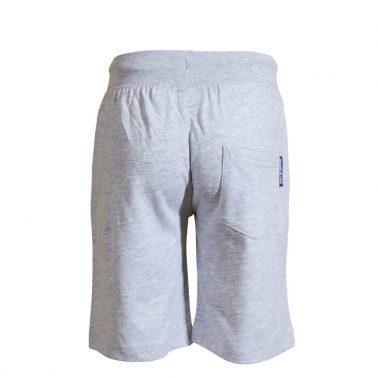 Детски трикотажни къси панталони от органичен памук с пожарникарска щампа сиви