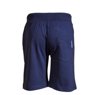 Детски трикотажни къси панталони от органичен памук с пожарникарска щампа тъмно сини