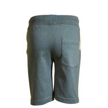 Детски трикотажни къси панталонки от органичен памук с щампа с багер цвят каки