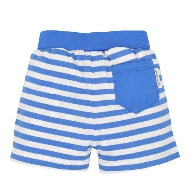 Бебешки къси панталонки от органичен памук в райе сини