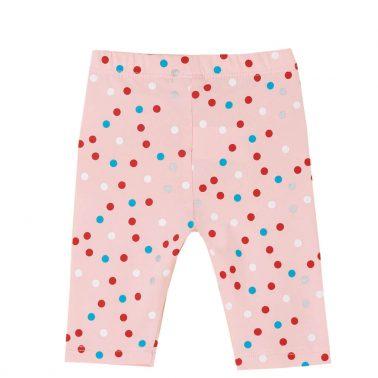 Бебешки 3/4 клин на цветни точки в розово