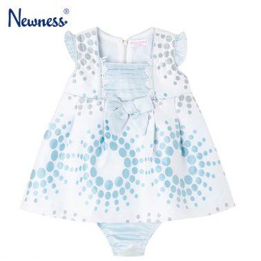 Официална бебешка жакардова рокля в комплект с гащички с ламе