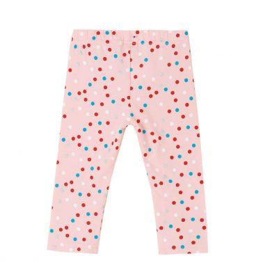 Детски клин с дължина 7/8 на точки в розово