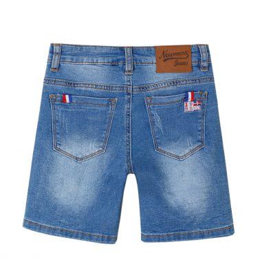 Детски дънкови къси панталонки с избелен ефект деним