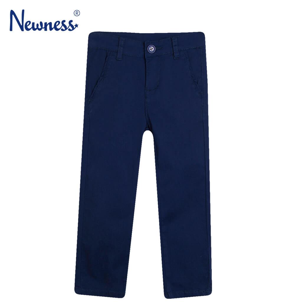 Официален дълъг детски панталон изчистен в тъмно синьо