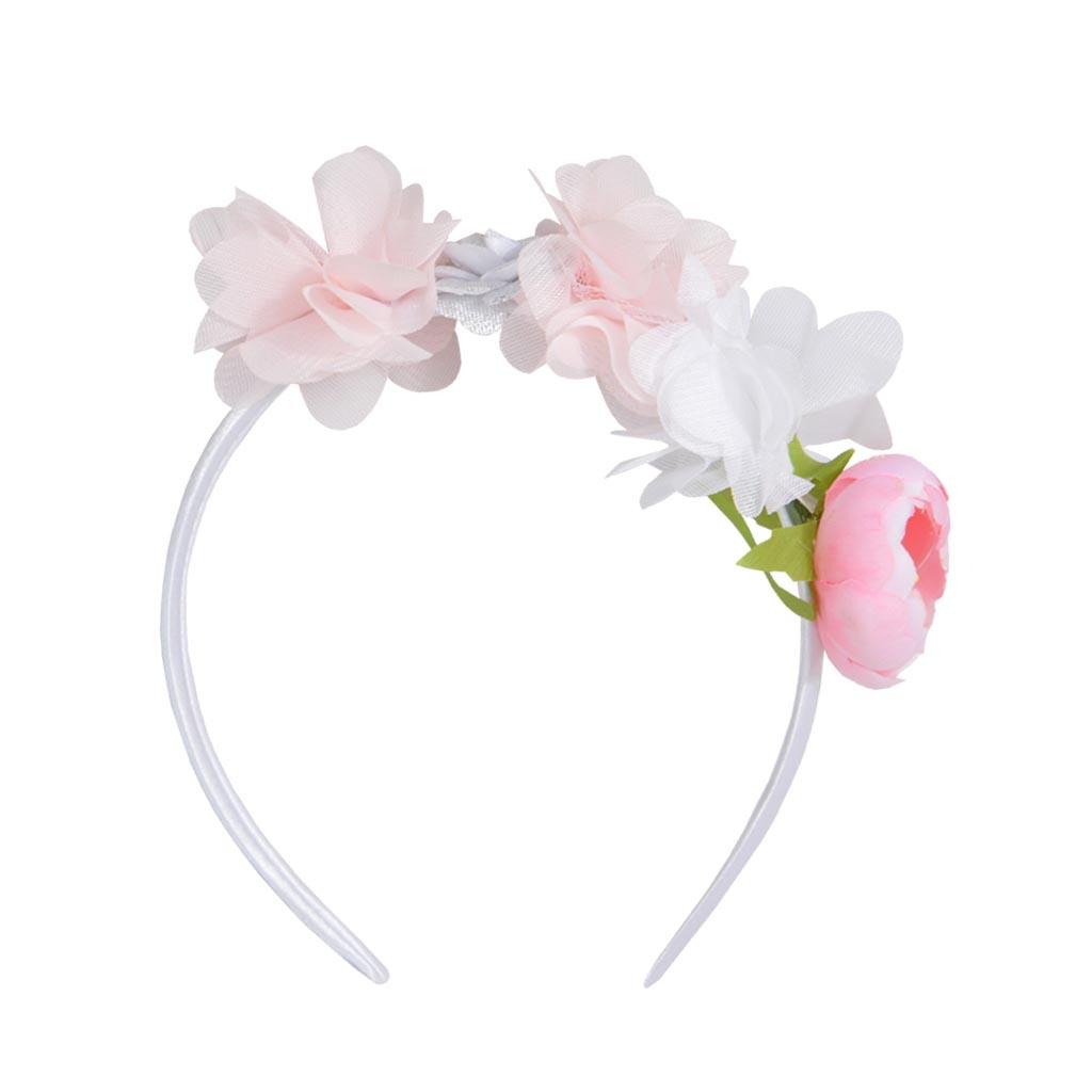 Диадема с розови цветя