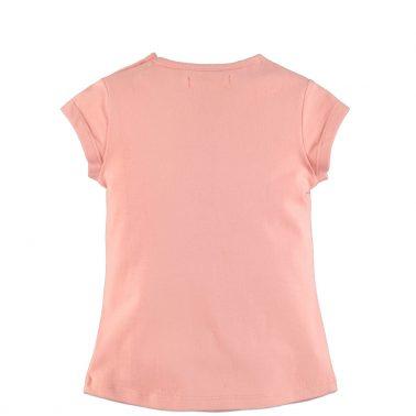 Бебешка блуза с къси ръкави и щампа с дакел розова