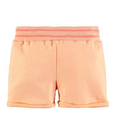 Детски трикотажни къси панталонки в неоново оранжево