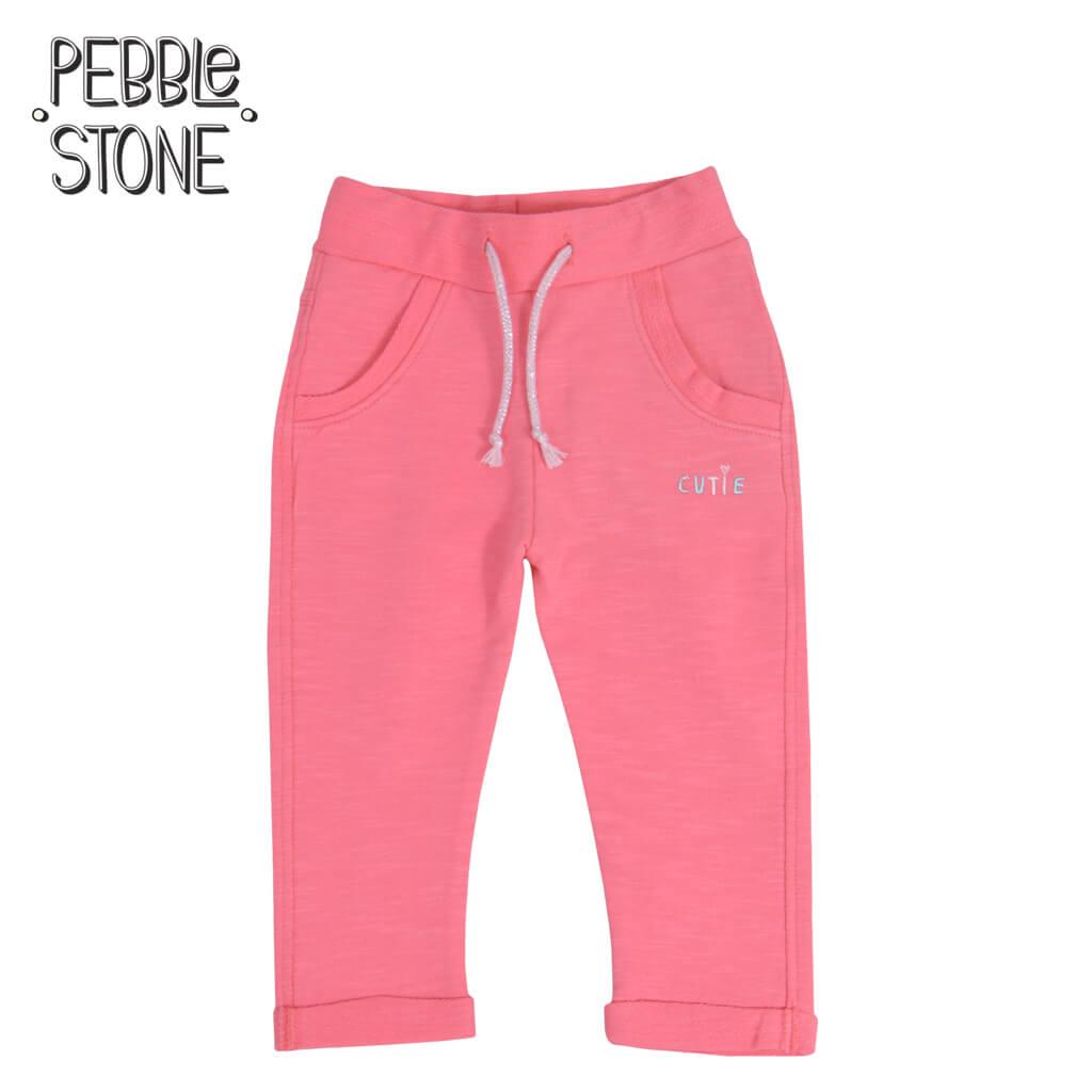 Бебешко долнище с джобчета и връзки Cutie цвят корал