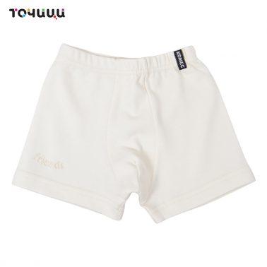 Детско бельо памучни боксерки цвят екрю