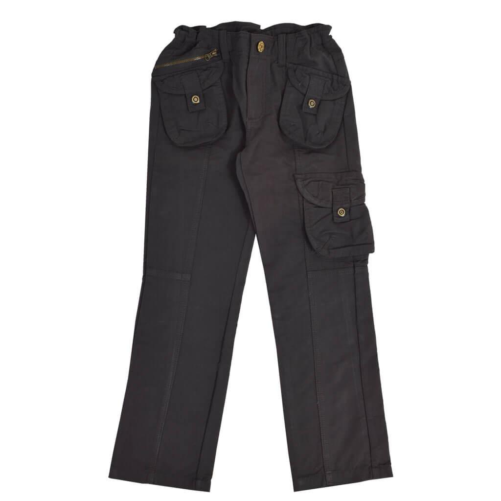 Спортен прав панталон в тъмно сиво