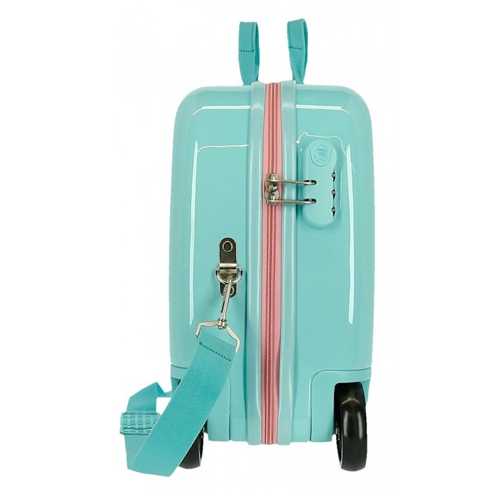 Детски пътен куфар возилка с Frozen Arendelle в цвят тюркоаз