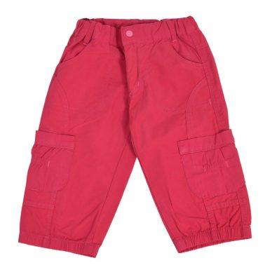 Детски къси панталонки с джобове в цвят малина