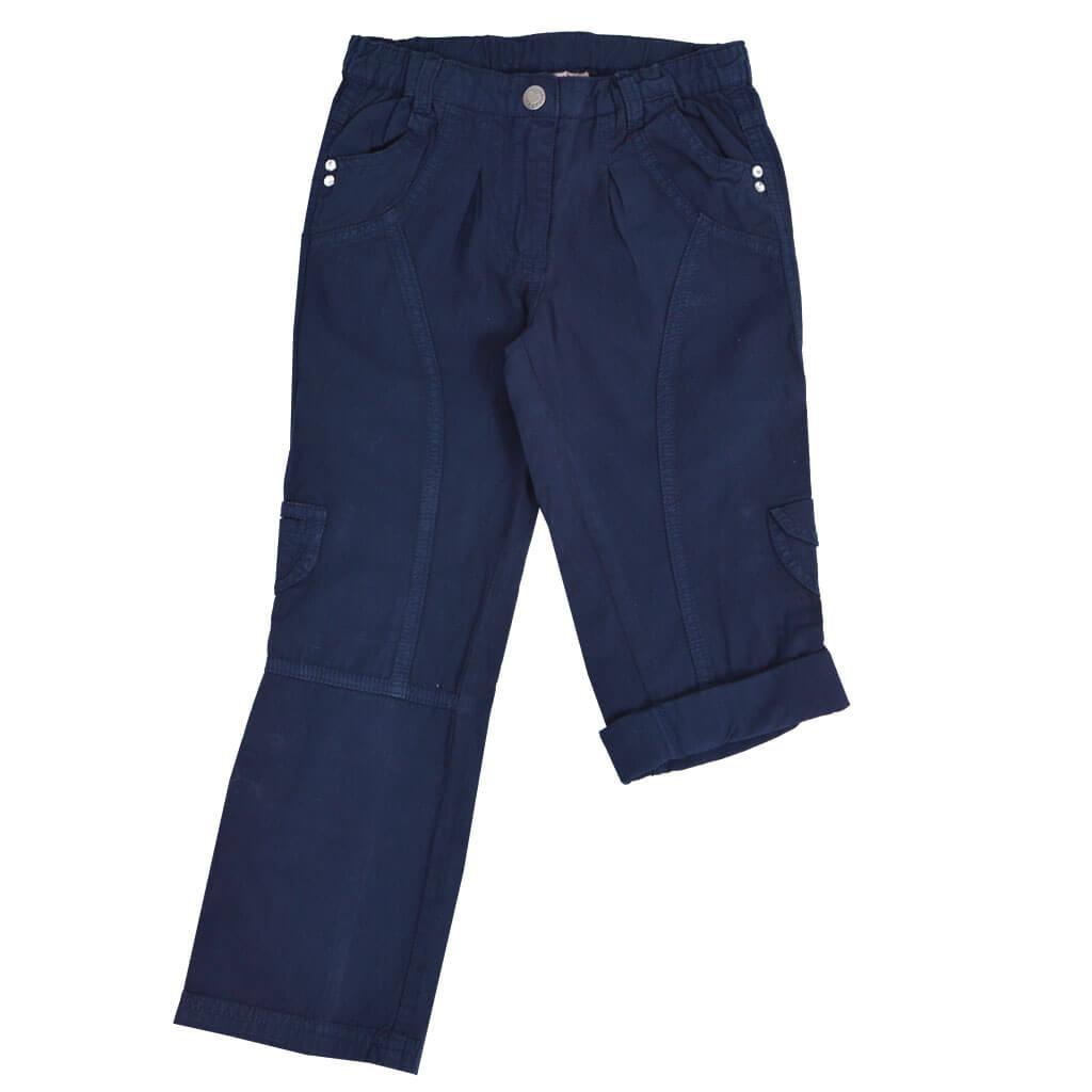 Дълъг панталон с възможност за скъсяване на крачола син