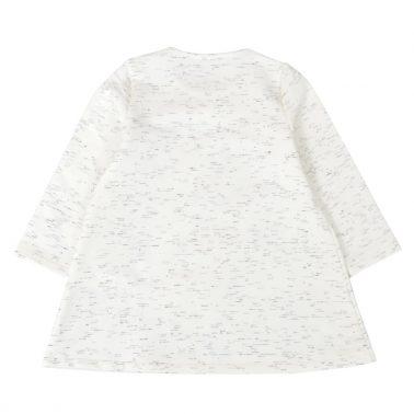 Спортно-елегантна детска рокля с пеперуди бяла