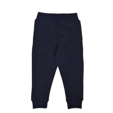 Детско долнище с ластик на талията и джобове тъмно синьо