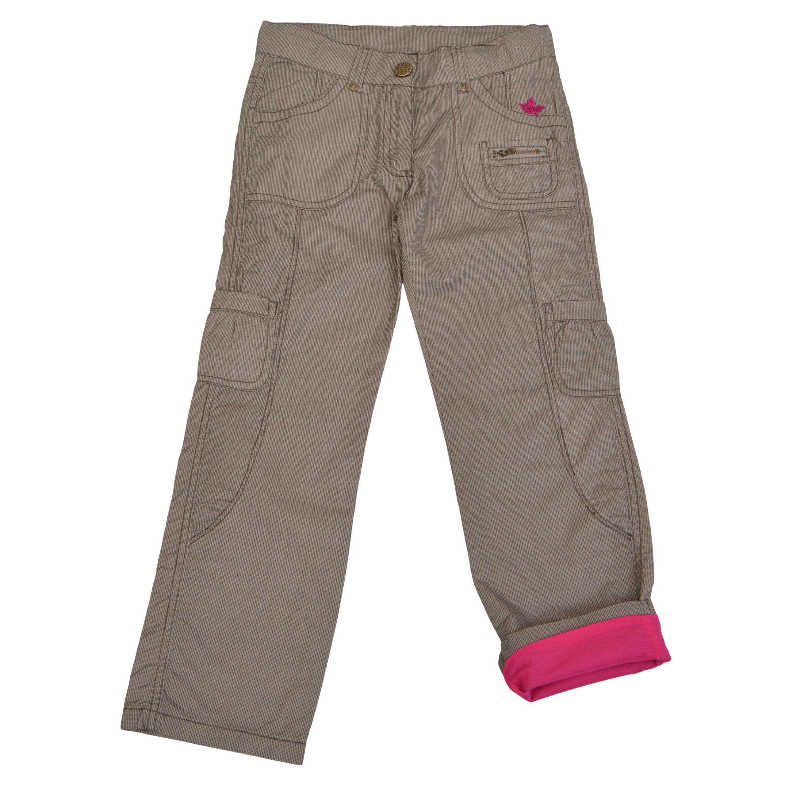 Детски дълъг панталон в кафяво