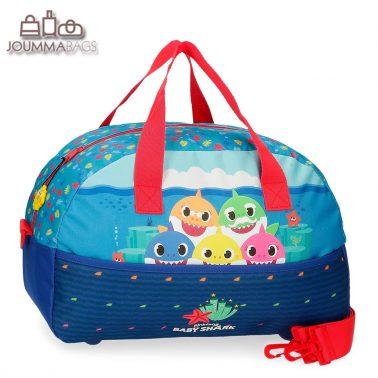 Детска пътна чанта BABY SHARK HAPPY FAMILY синя