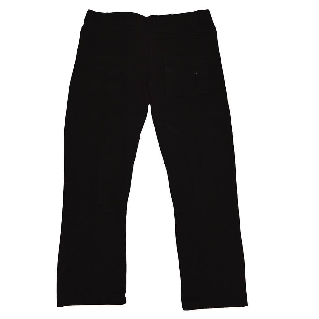 Детски трикотажен панталон с копче черен