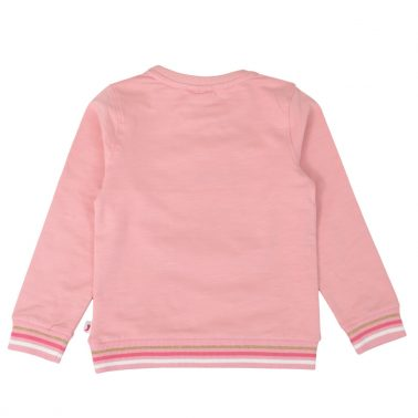 Ватирана блуза с щампа пеперуда розова