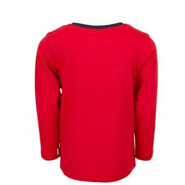 Детска блуза с дълъг ръкав и светеща в тъмното щампа в червено